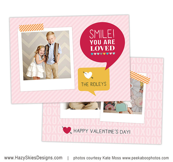Valentine's Card Template | Smile!