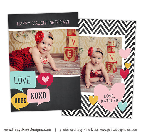 Valentine's Card Template | Speech Bubbles