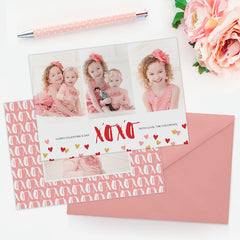 Valentine's Photo Card Template | XOXO