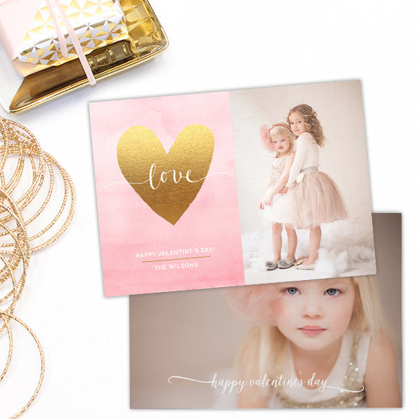 Valentine S Day Card Templates For Photographers Photoshop Elements