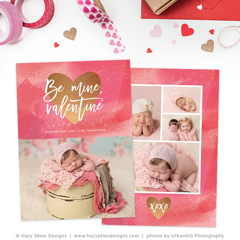Valentine's Day Card Template | Be Mine, Valentine