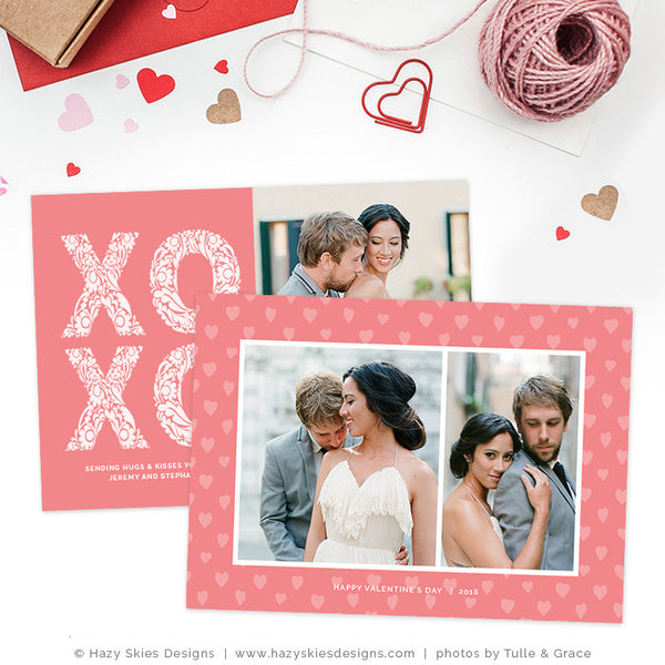 Valentine's Day Photography Template | Hugs & Kisses
