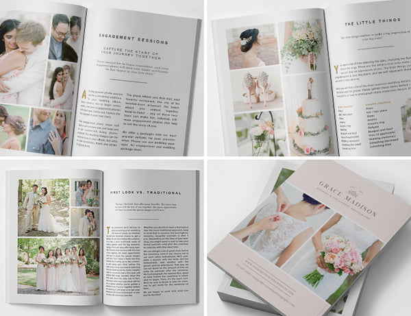 Photography Magazine Template | The Wedding Guide
