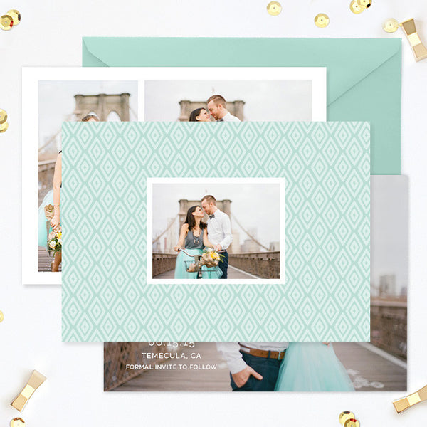 Save the Date Template | Diamonds