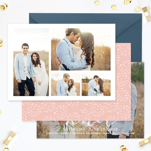Save the Date Template  | Tying the Knot