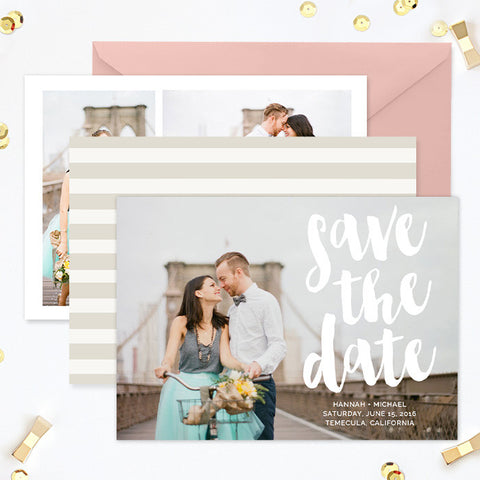 Save the Date Template for Photographers | Stripes