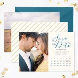 Save the Date Template | Heart the Date