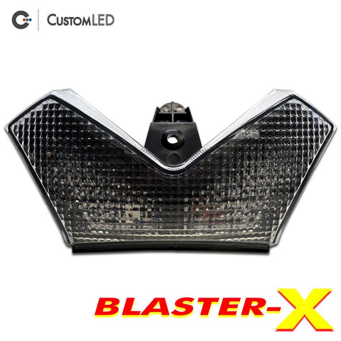 Kawasaki Ninja ZX-14R Blaster-X Integrated LED Tail Light for years 2006-2020 by Custom LED - Clear Lens