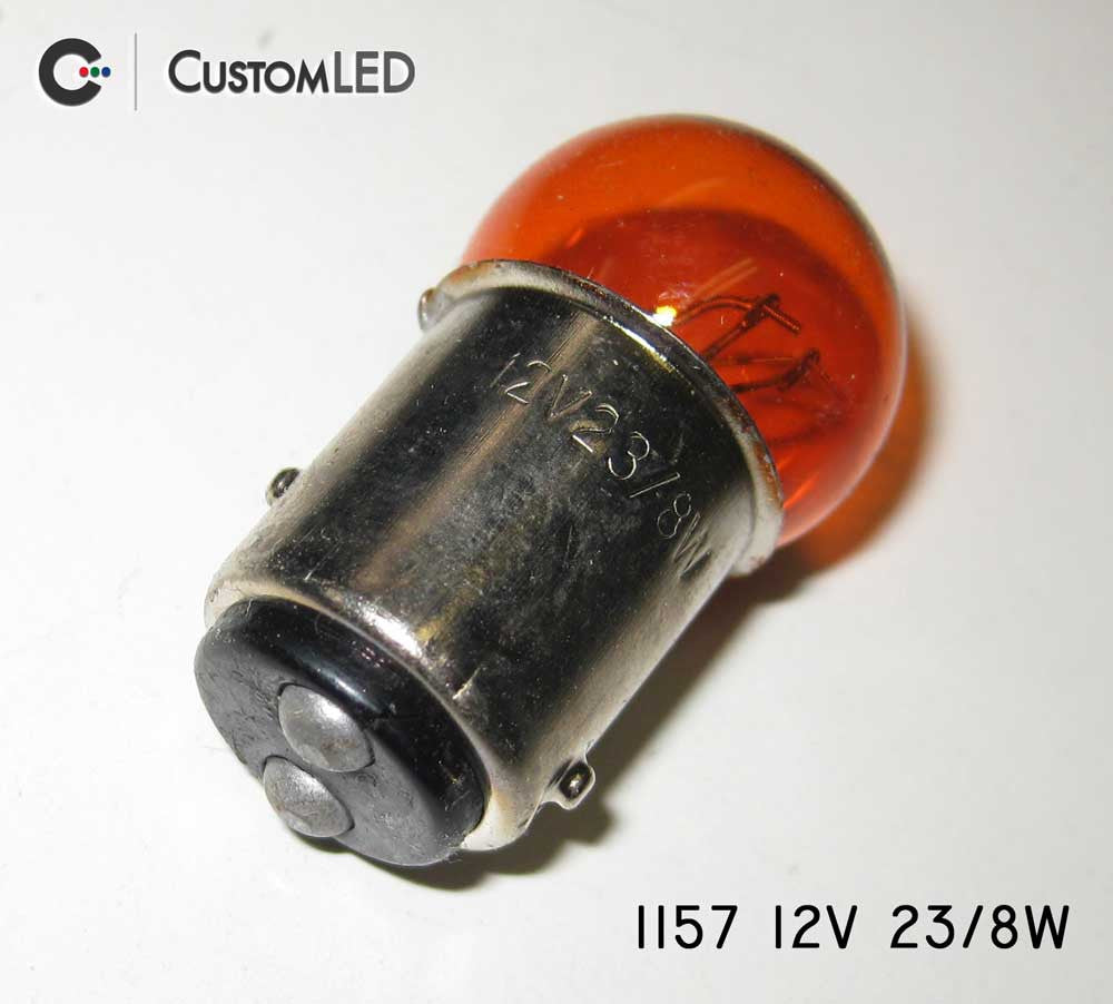 Automotive Amber 1157 Dual-Intensity Bulb | Custom LED