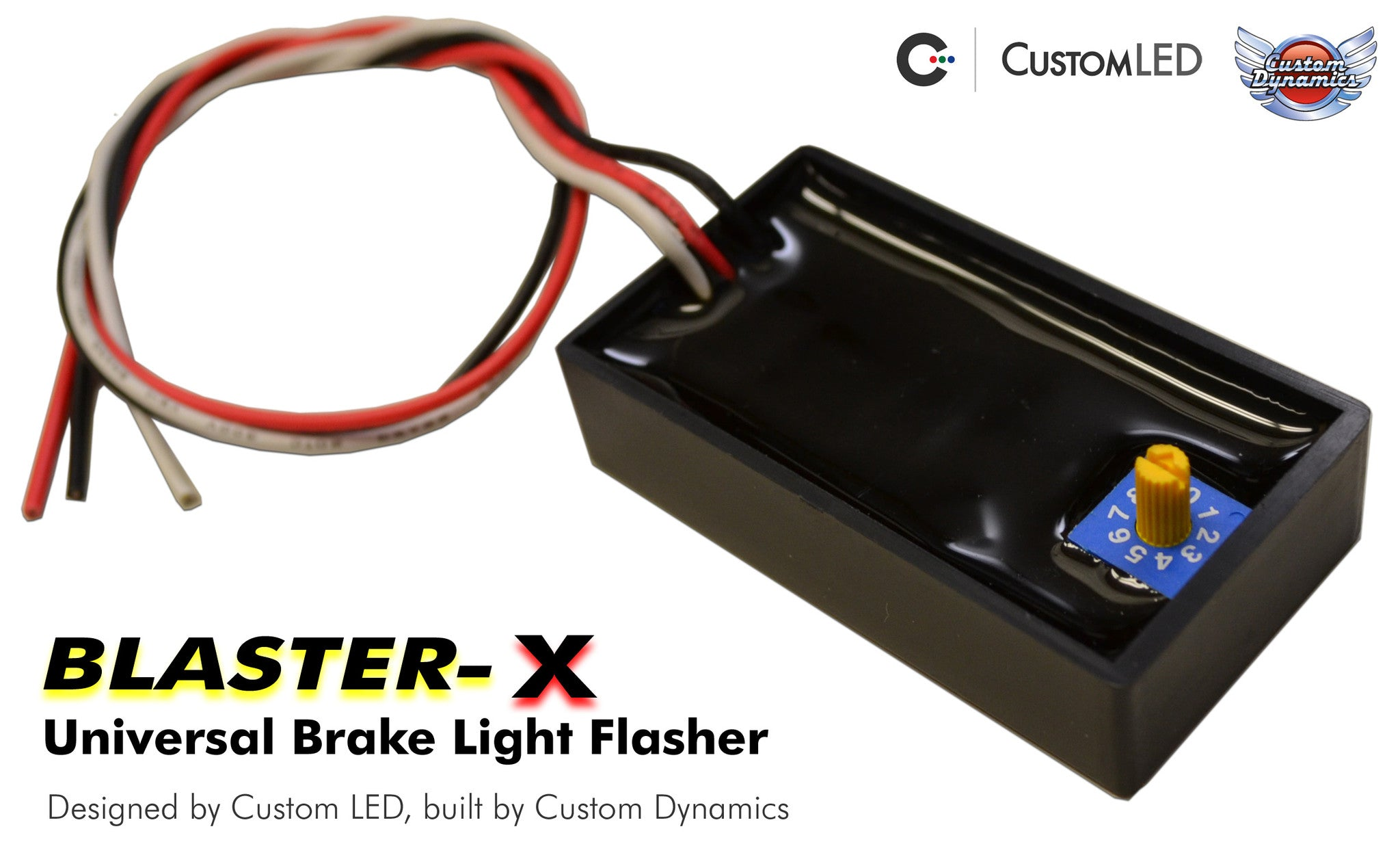 Universal Magic Strobes Brake Light Flasher Modulator With 10 Wiring Additional Lights For Standard Tail Systems