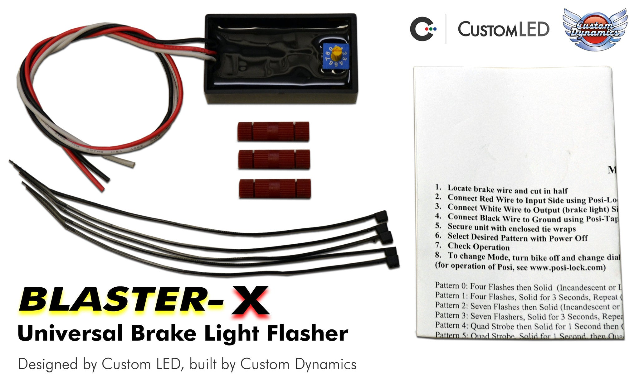 Universal Magic Strobes Brake Light Flasher Modulator With 10 Network Wiring Patterns Diagram Reference For Standard Tail Systems