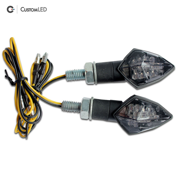 Custom LED Motorcycle LED Blinkers - Compact Short Stalk - V1