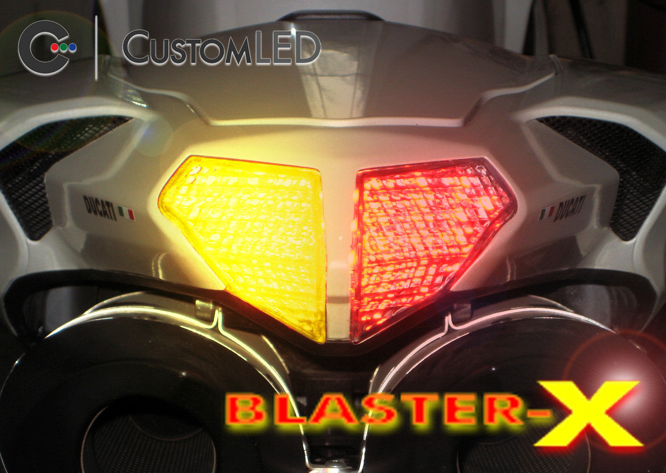 2008 2013 Ducati 848 Blaster X Integrated Led Tail Light Custom Wiring Diagram For Years 2009 2010 2011 2012