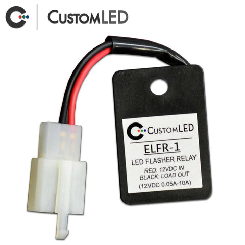 ELFR-1 Electronic LED Flasher Relay for Motorcycle LED Blinkers - OEM Connector