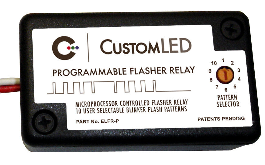 ELFR-P Programmable 10-Pattern Electronic LED Flasher Relay for LED Blinkers Turn Signals