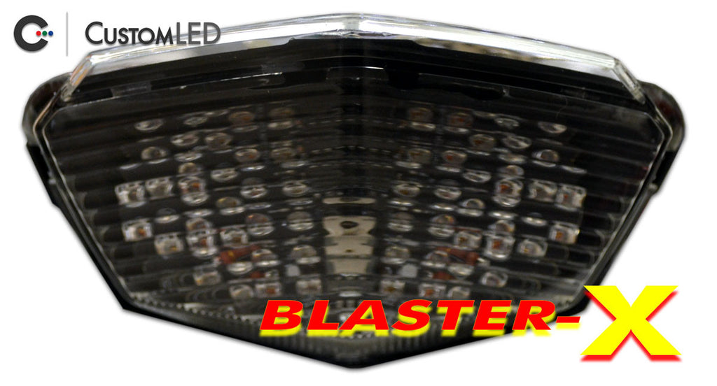 Kawasaki Ninja 250R Blaster-X Integrated LED Tail Light for years 2008 2009 2010 2011 2012 by Custom LED