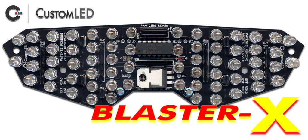 Yamaha YZF-R6 Blaster-X Integrated LED Tail Light Retrofit Kit for years 2003 2004 2005 by Custom LED