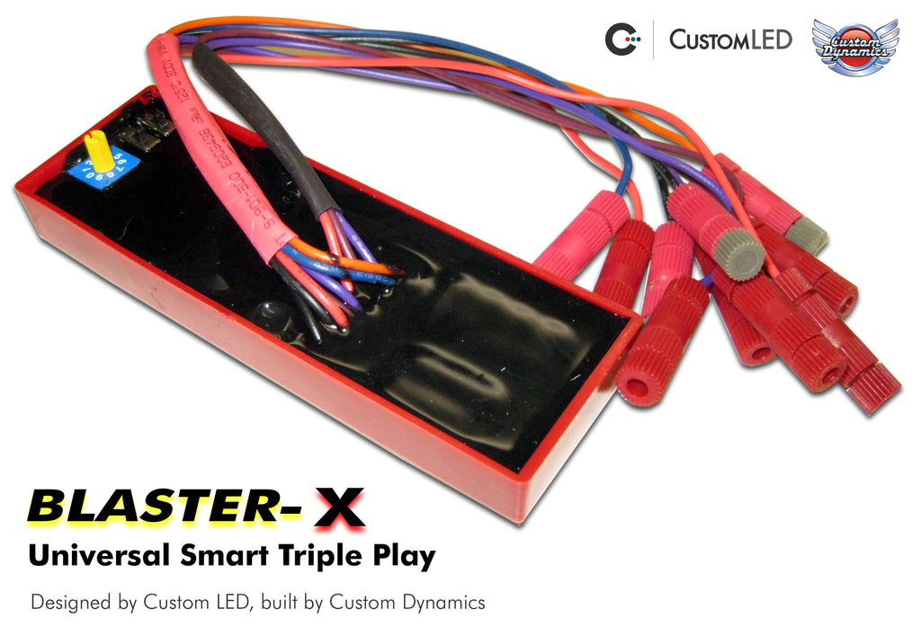 Smart Triple Play: Universal Run Brake Turn control module for Motorcycles | Custom LED