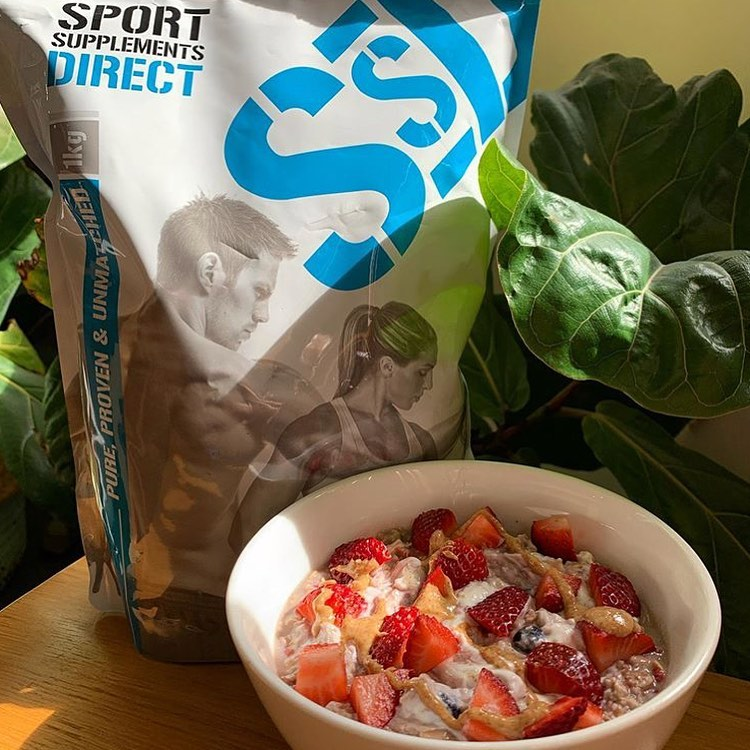 SSD Protein Strawberry Oat Bowl