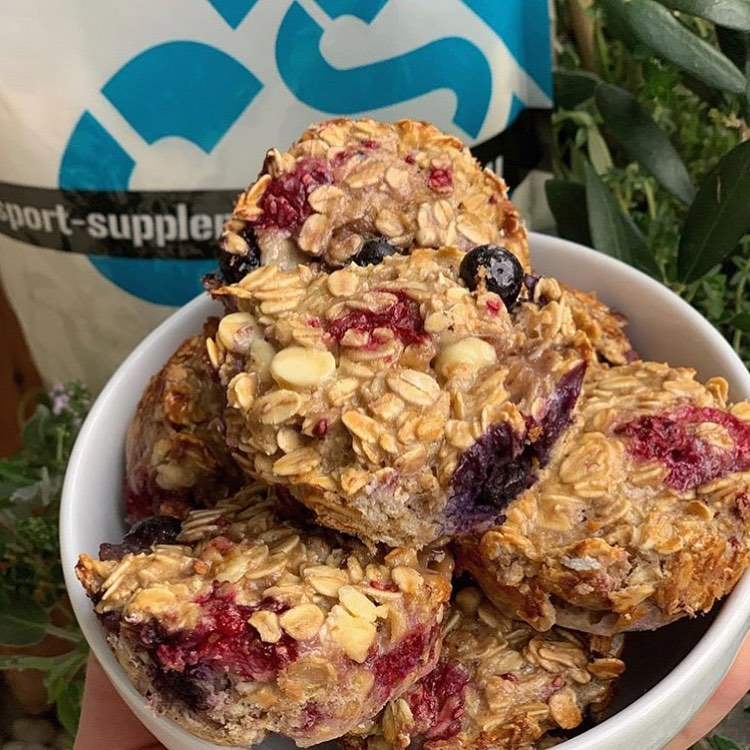 SSD Protein Berry Oat Muffins