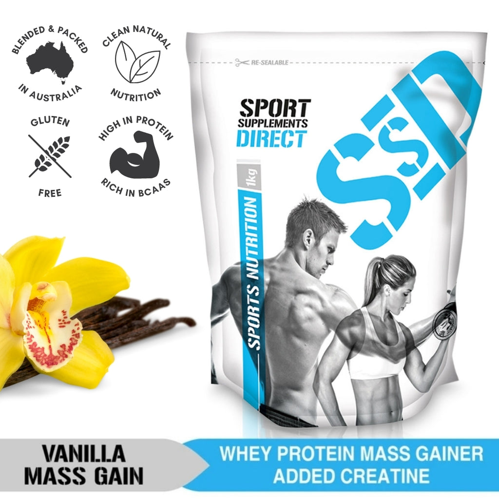 100% NATURAL COMPLETE WHEY MASS GAINER - VANILLA