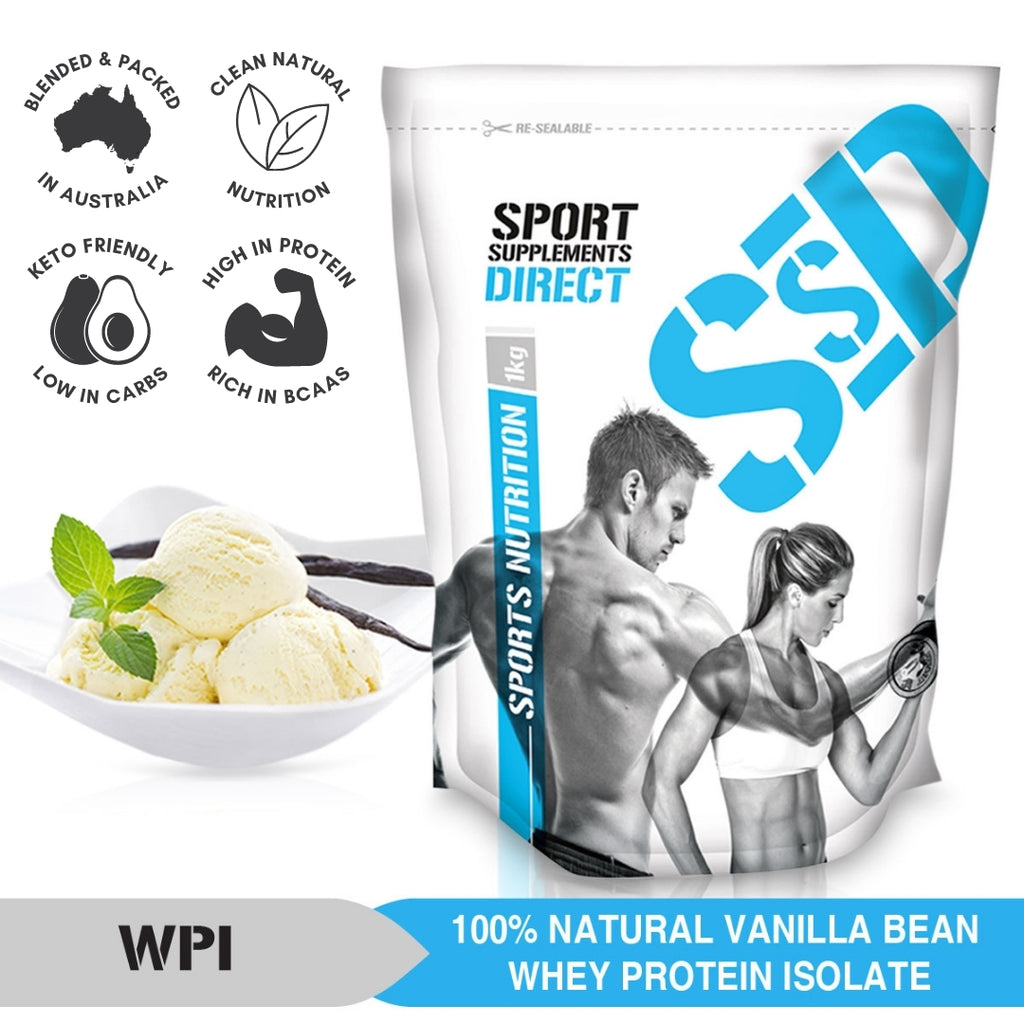 100% NATURAL WHEY PROTEIN ISOLATE - VANILLA