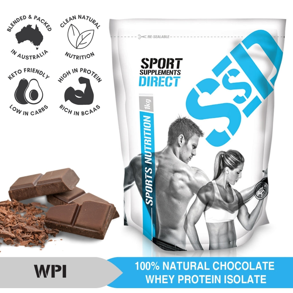 100% NATURAL WHEY PROTEIN ISOLATE - CHOCOLATE