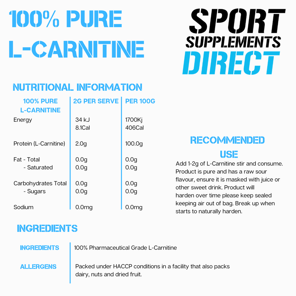 100% PURE ACETYL L-CARNITINE