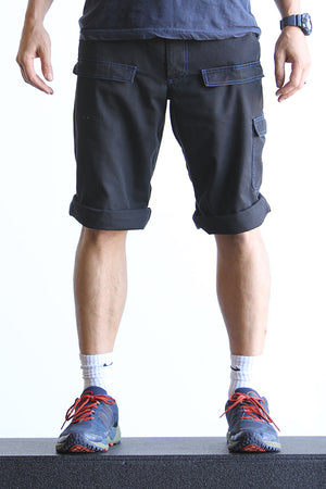 Blue Stitched G2 Shorts