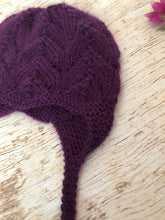 Load image into Gallery viewer, Lace Earflap Hat with Ties