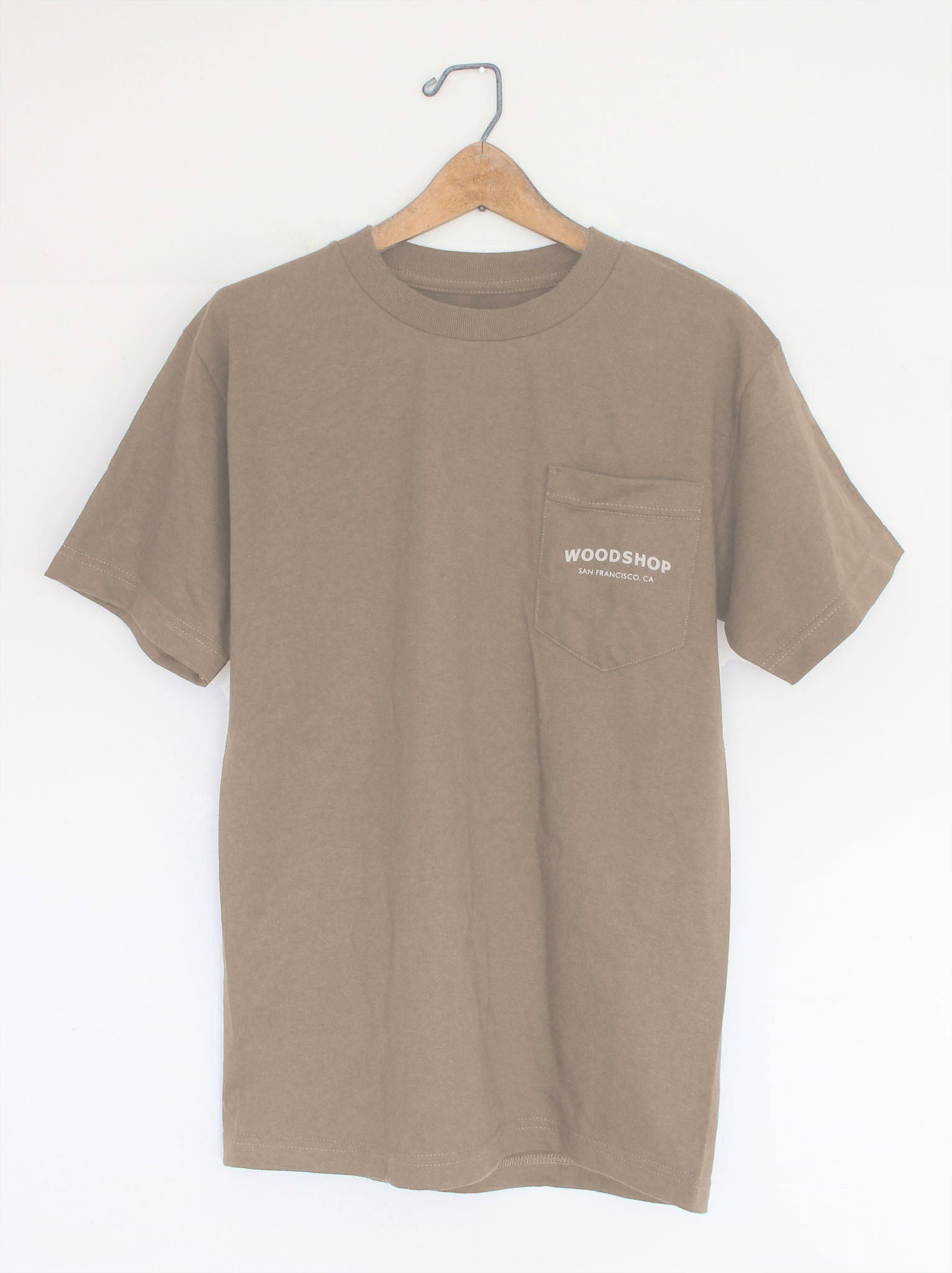 Woodshop Logo pocket t-shirt (Coffee)