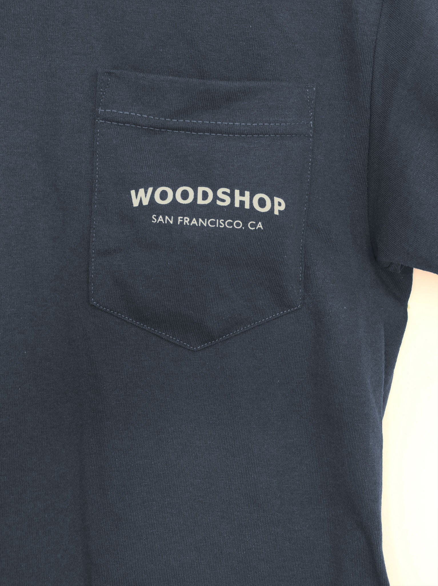 Woodshop Logo pocket t-shirt (Navy Blue)