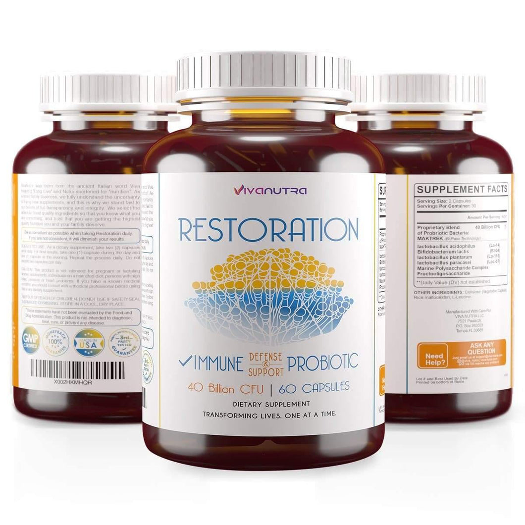 RESTORATION Probiotic Toenail Fungus Treatment - Viva Nutra