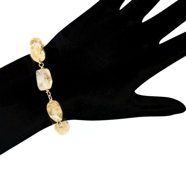 Faceted Citrine Bracelet