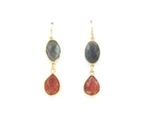 Labradorite and Sunstone Earrings