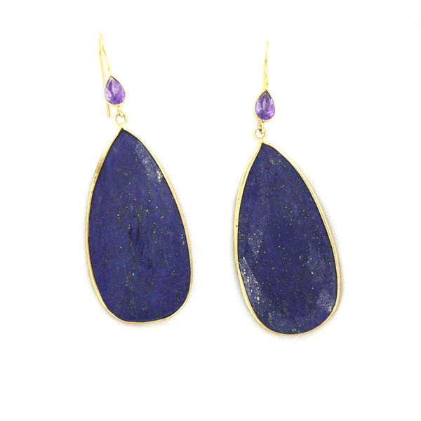 Lapis and Amethyst Earrings