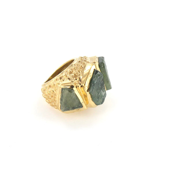Rough Green Sapphire Ring
