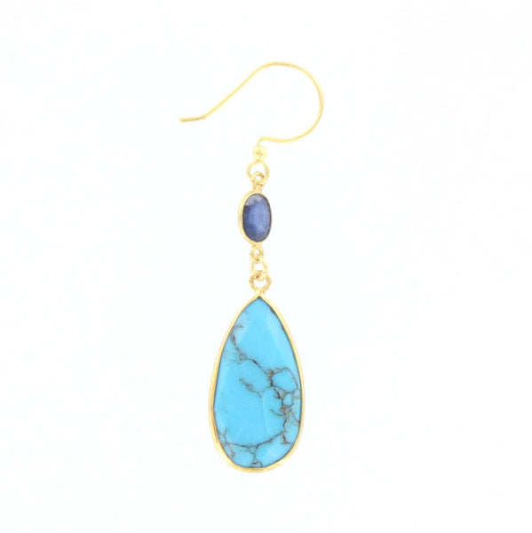 Sapphire and Turquoise Earrings