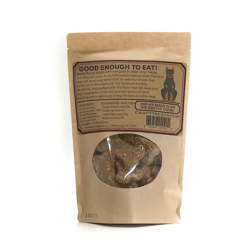 Barley Bones 6oz Bacon Spent Grain Holistic Dog Treats