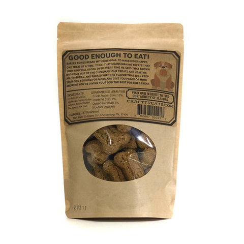 Barley Bones 6oz Peanut Butter Spent Grain Made In the USA Dog Treats