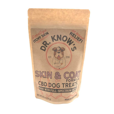Dr. Know's CBD Dog Treats Skin & Coat Formula