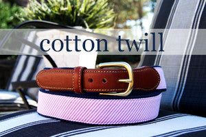 The Classic Cotton Twill Belt