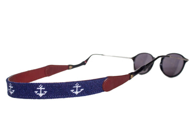ANCHOR ON NAVY NEEDLEPOINT SUNGLASS STRAPS™