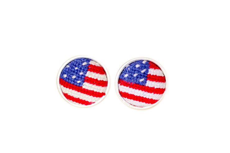 Patriot Needlepoint Cuff links by Asher Riley