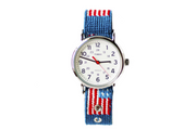 Asher Riley, needlepoint, american flag, watch strap