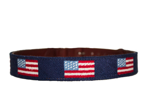 AMERICAN FLAG NEEDLEPOINT DOG COLLAR™