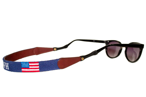 00f11369dec AMERICAN FLAG MONOGRAM NEEDLEPOINT SUNGLASS STRAPS™