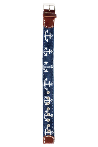 Asher Riley Needlepoint Anchor watch strap