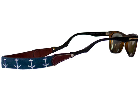 Asher Riley Anchor Needlepoint Sunglass Straps