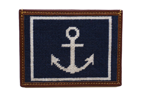 Anchor Needlepoint Card Wallet by Asher Riley